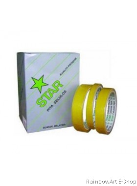 STAR CELLULOSE TAPE 18MM x 30YDS 8ROLL/BOX