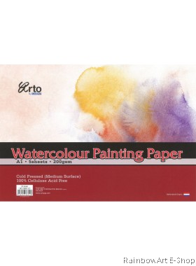 arto by CAMPAP A1 Watercolour Paper 200gsm CR36341