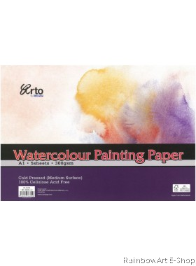 arto by CAMPAP A1 Watercolour Paper 300gsm CR36345
