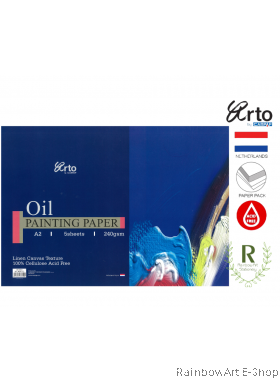 arto by CAMPAP A2 Oil Painting Paper 240gsm CR36350