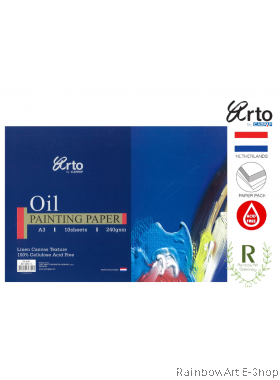 arto by CAMPAP A3 Oil Painting Paper 240gsm CR36351