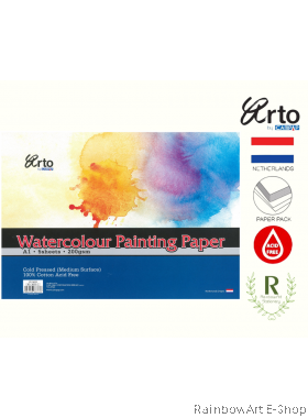 arto by CAMPAP Watercolour Paper 200gsm 100% Cotton Acid Free CR36333