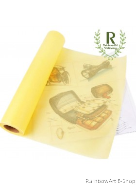 Bienfang Canary Paper for Sketching & Tracing( yellow butter paper) 50yds x 12in / 18in