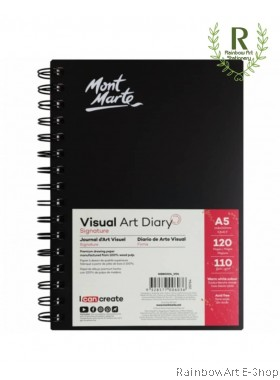Mont Marte Visual Art Diary 120pages A5