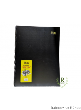 arto by CAMPAP A3 Wire-o PP Cover Sketch Book Black paper 140gsm