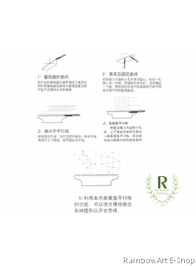 Butterfly G30 Plastic Multi-purpose Angle Parallel Ruler 30cm Rolling Pusher Roller Ruler Angle Balancing Scale Drawing