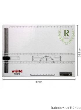 World Drawing Board A3 Technical Drawing Board (White)