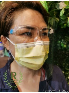 Protective Face Shield with Glasses for Virus 透明防护高清面罩