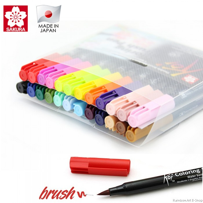 SAKURA KOI COLORING BRUSH PEN 24 COLOUR