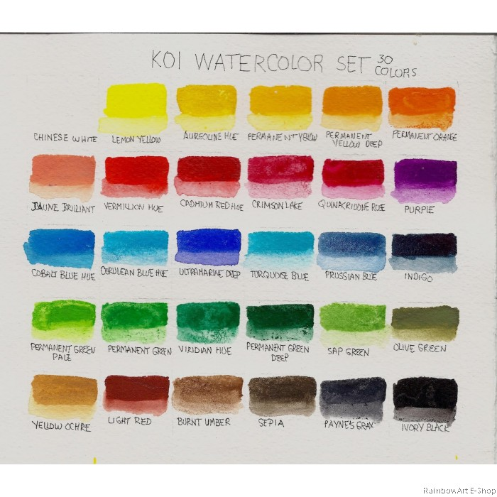 Sakura Koi Water Colors Pocket Field Sketch Box 30color