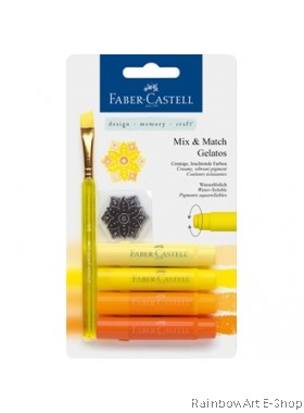 FABER-CASTELL WATERSOLUBLE CRAYON GELATOS YELLOW