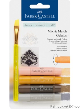 FABER-CASTELL WATERSOLUBLE CRAYONS GELATOS NEUTRAL