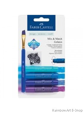 FABER-CASTELL WATERSOLUBLE CRAYONS GELATOS BLUE