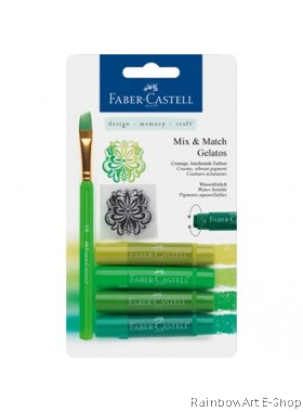 FABER-CASTELL WATERSOLUBLE CRAYONS GELATOS GREEN