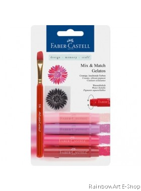 FABER-CASTELL WATERSOLUBLE CRAYONS GELATOS RED