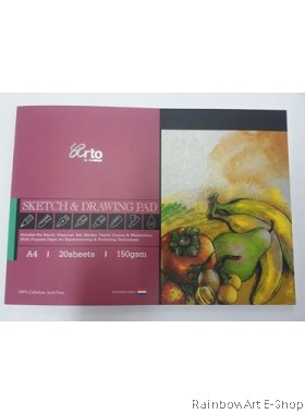 arto by CAMPAP A4 SKETCH & DRAWING PAD CR36241
